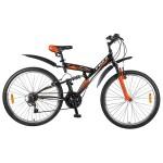 Велосипед 26 дюймов Foxx Attack 18 скоростей V-brake черно-оранжевый