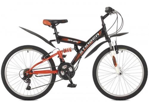 Велосипед 24 дюйма Stinger Banzai рама 16 черный 24SFV.BANZAI.16BK8