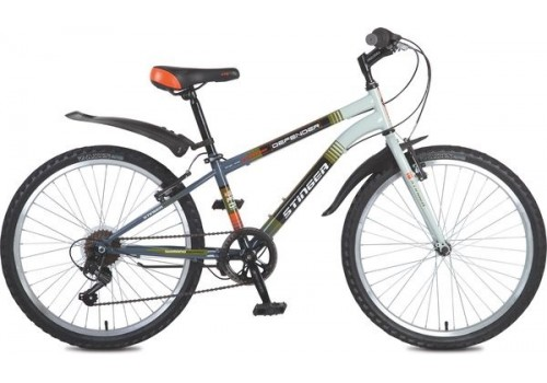 """Велосипед 24 дюйма Stinger Defender 14"""" серый TY21/RS35"""
