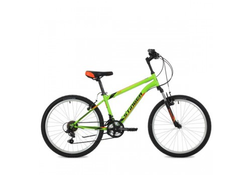 "Велосипед 24 дюйма Stinger Caiman 12,5"", зеленый TY21/TZ30/TS38"