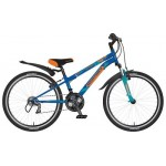 "Велосипед Novatrack 24"" Action синий TY21/TZ30/RS35/SG-6SI"