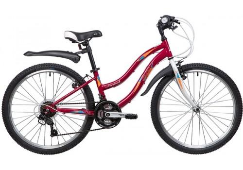"""Велосипед 24 дюйма NOVATRACK 24"""" LADY, малиновый"""