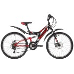 "Велосипед 24 дюйма Foxx Freelander рама 14"" черный  24SFD.FREELD.14BK9"