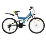 Велосипед 24 дюйма Foxx Attack, 18 скоростей синий/желтый 24SFV.ATTAC.14BL8