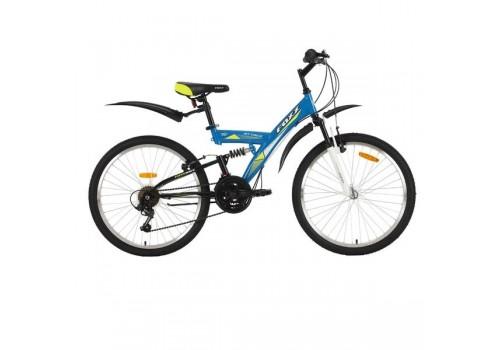 Велосипед 24 дюйма Foxx Attack 18 скоростей TY21/POWER/MICROSHIFT V-brake синий/желтый