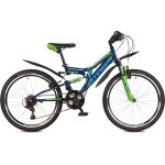 """Велосипед 24 дюйма Stinger Highiander 100V; 16,5"""" синий TZ30/TY21/RS35"""