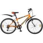 Велосипед 24 дюйма Foxx ManGo, 6 скоростей, оранжево/черный 24SHV.MANGO.14OR9