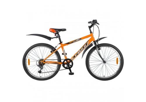 Велосипед 24 дюйма Foxx ManGo, 6 скоростей, TY21/MICROSHIFT, V-brake, оранжево/черный 24SHV.MANGO.14OR8