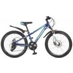 """Велосипед 24 дюйма Stinger Aragon 12,5"""" сталь, синий 117357"""