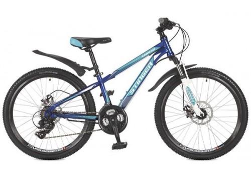 """Велосипед 24 дюйма Stinger Aragon 12,5"""" сталь синий 117357"""