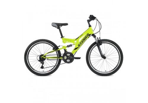 "Велосипед 24 дюйма Stinger Highiander 14"" зеленый"