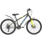 "Велосипед 24 дюйма RUSH HOUR RX 405 DISC ST рама 13"" 6 скоростей черный"