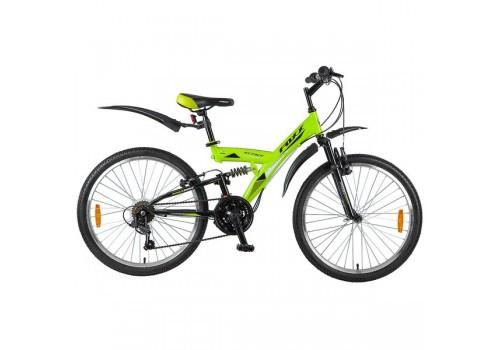 Велосипед 24 дюйма Foxx Attack 18 скоростей зелено /черный