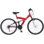 Велосипед 26 дюймов Mikado Explorer 18 скоростей красно/белый 26SFV.EXPLO.18RD8
